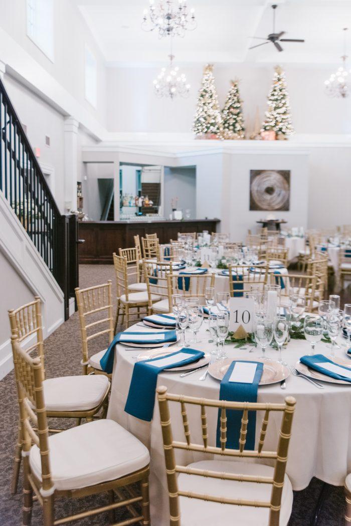 Winter Wedding Table Setup